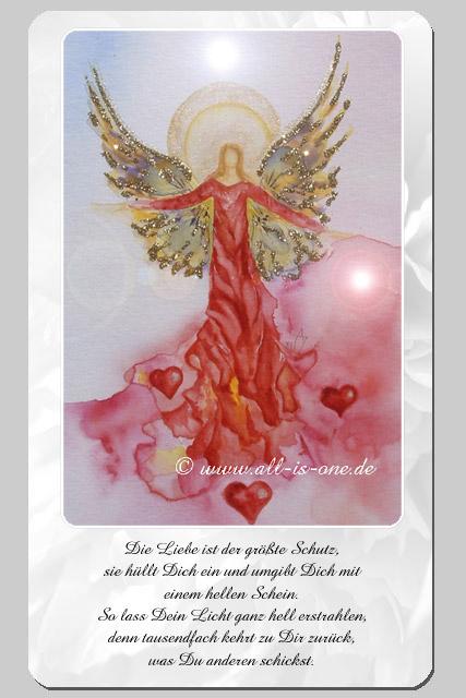 Liebe engelkarte Engelkarte